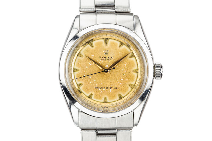 "1955 Rolex Oyster 6480 with No Lume ""Banana"" Dial photo"