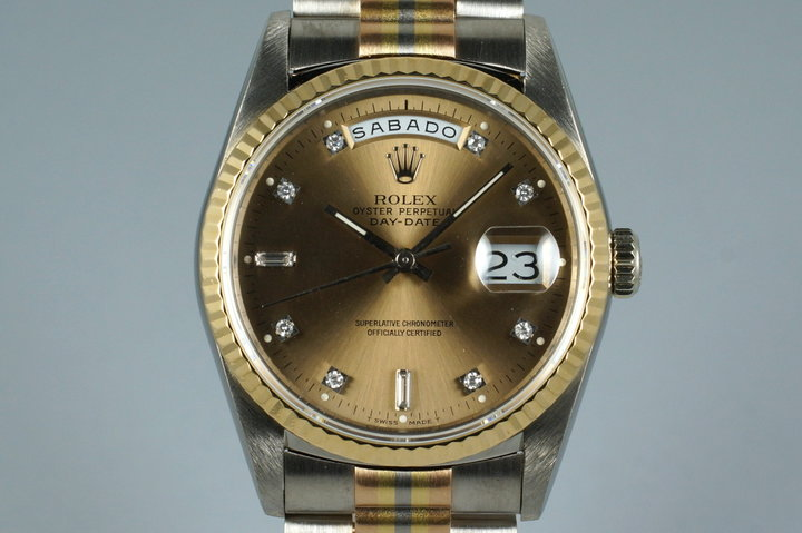 1989 Rolex Day-Date 18239B TRIDOR with Factory Diamond Dial photo