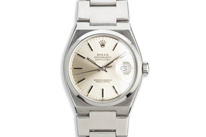1979 Rolex OysterQuartz DateJust 17000 Silver Dial photo