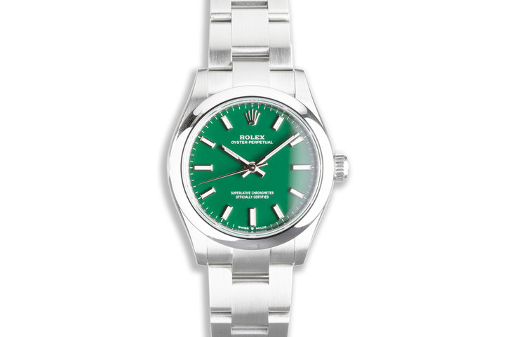 2021 Rolex Oyster Perpetual 31mm 277200 Green Dial Box & Card photo