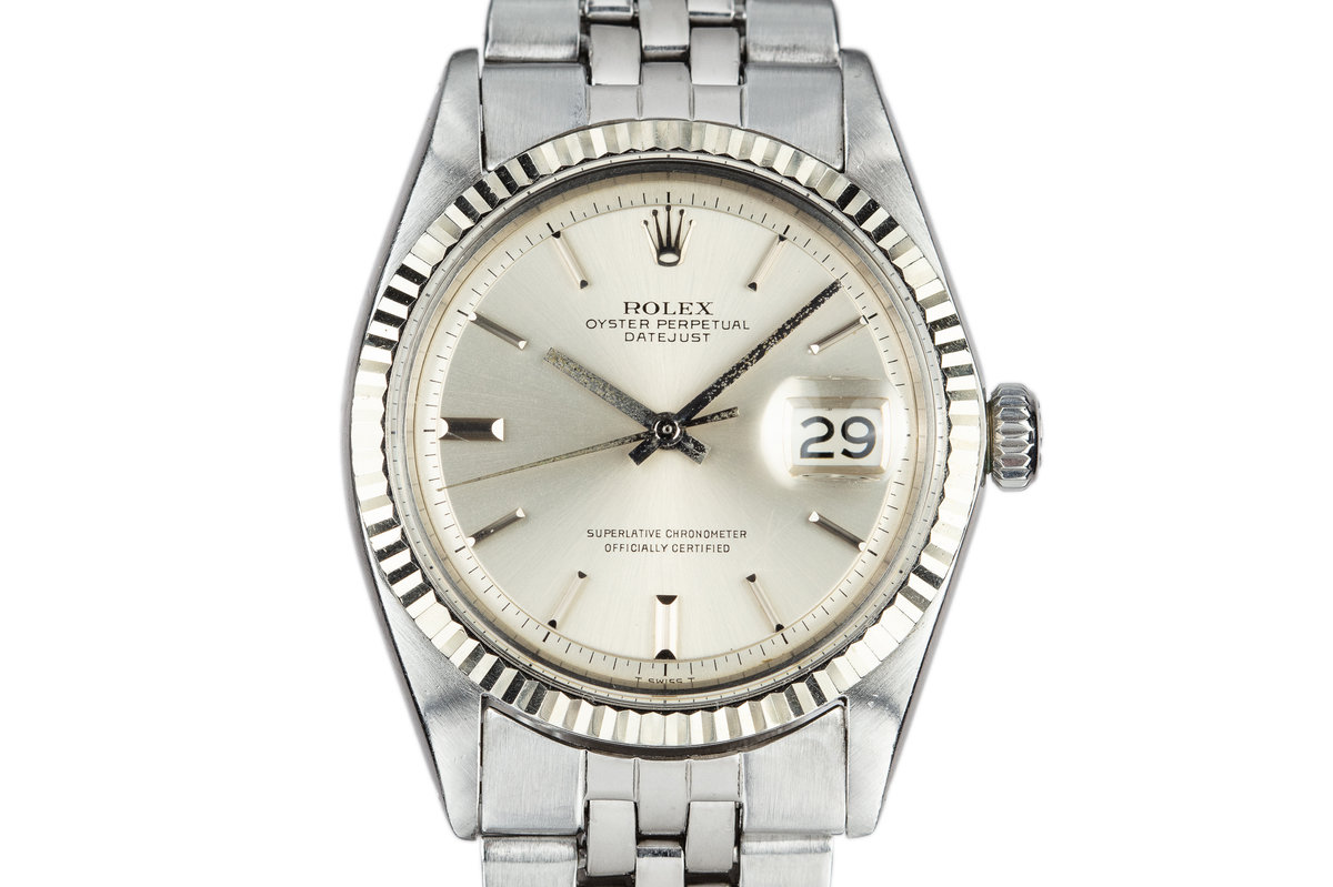 1968 Rolex DateJust 1601 with No Lume Silver Dial photo, #0