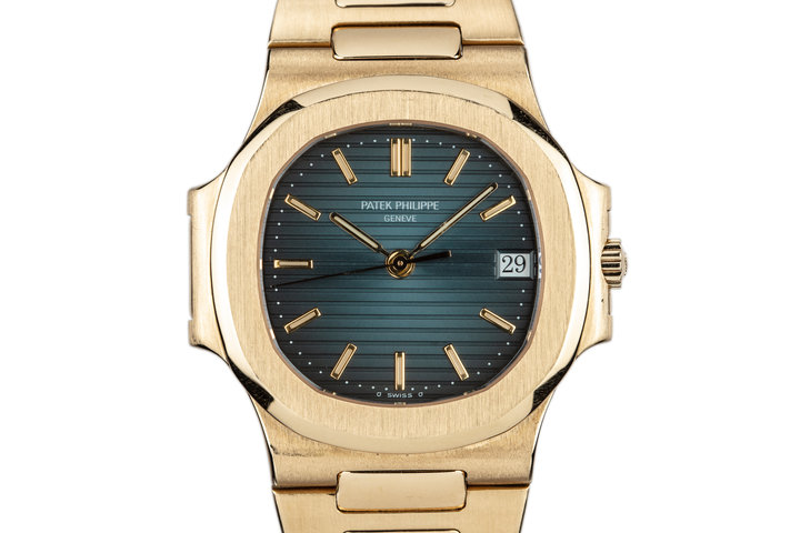 1992 18L YG Patek Phlippe Nautilus 3800/1 with Box and Extract from the Archives photo