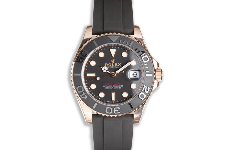 2021 Rolex Yacht Master 37mm Everose 268655 with Oysterflex Strap Box & Card photo
