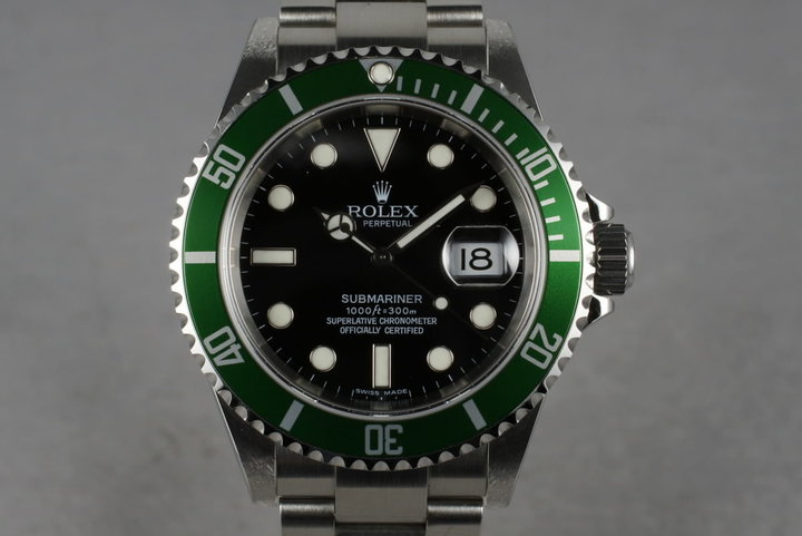 2006 Rolex Submariner 16610LV with Box and Papers photo