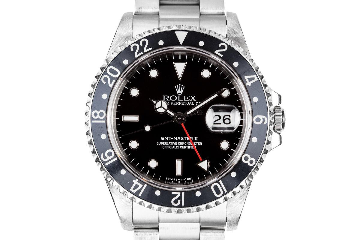 1995 Rolex GMT-Master II 16710 with Black Bezel Insert photo, #0