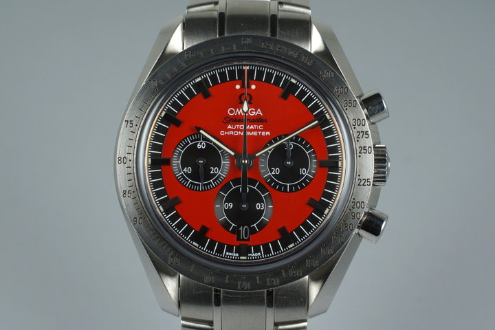 Omega Speedmaster 3506.61 Red Michael Schumacher with Box photo