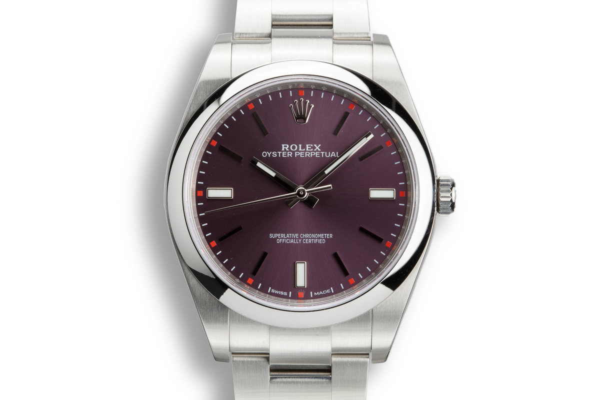 "Rolex Oyster Perpetual 114300 Purple ""Grape"" Dial with Box and Papers photo, #0"