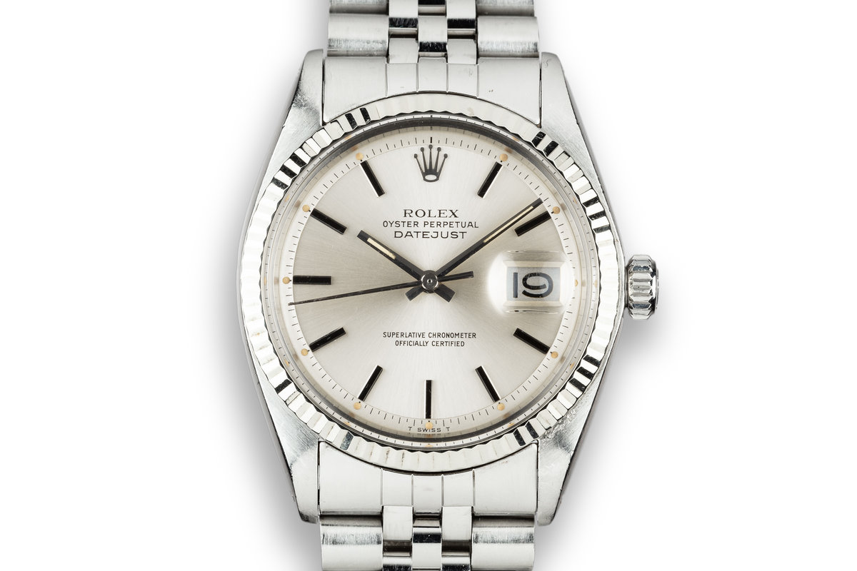 1975 Rolex DateJust 1601 Silver Dial photo, #0