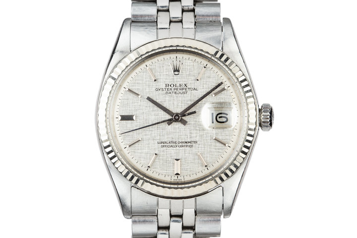 1972 Rolex DateJust with No Lume Silver Linen Dial photo