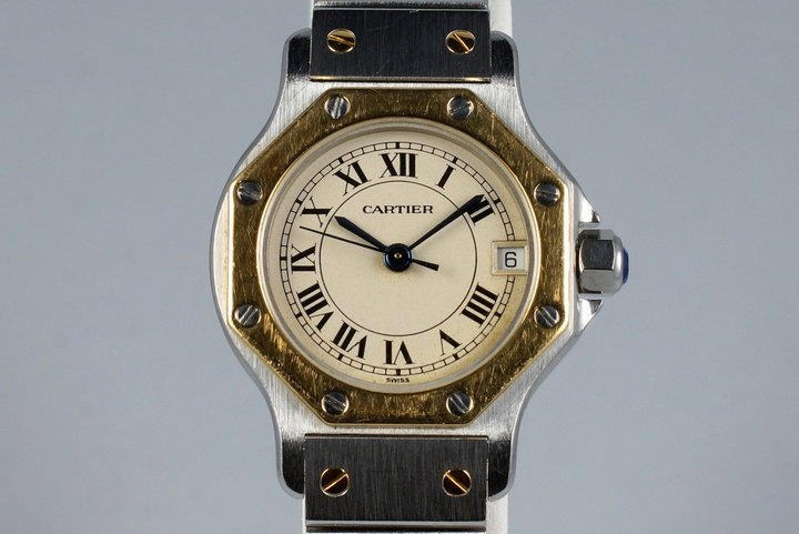 Cartier Ladies Quartz Two Tone Santos Octagon 187903 photo