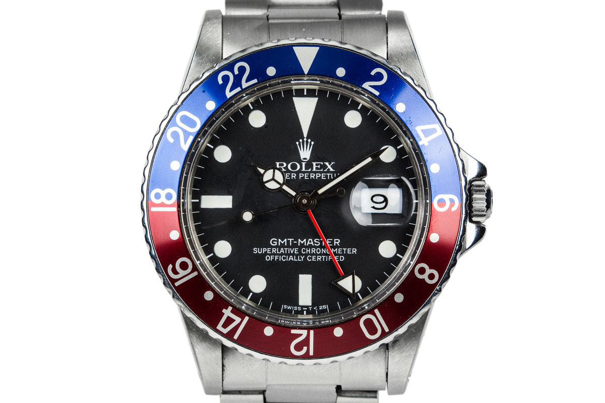 1981 Rolex GMT-Master 16750 Matte Dial with Pepsi Bezel Insert photo, #0