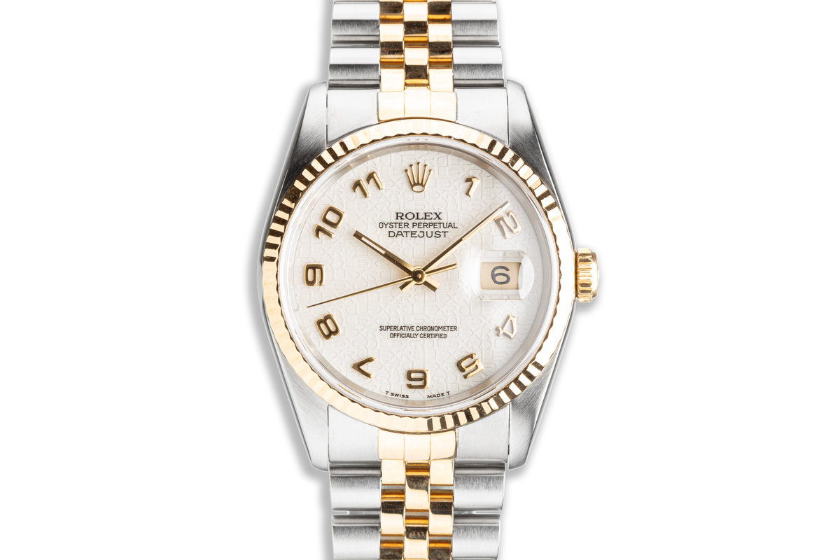 1991 Rolex Two-Tone DateJust 16233 White Jubilee Dial photo, #0