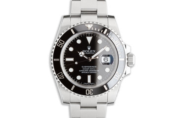 2016 Rolex Submariner 116610LN with Box & Card photo