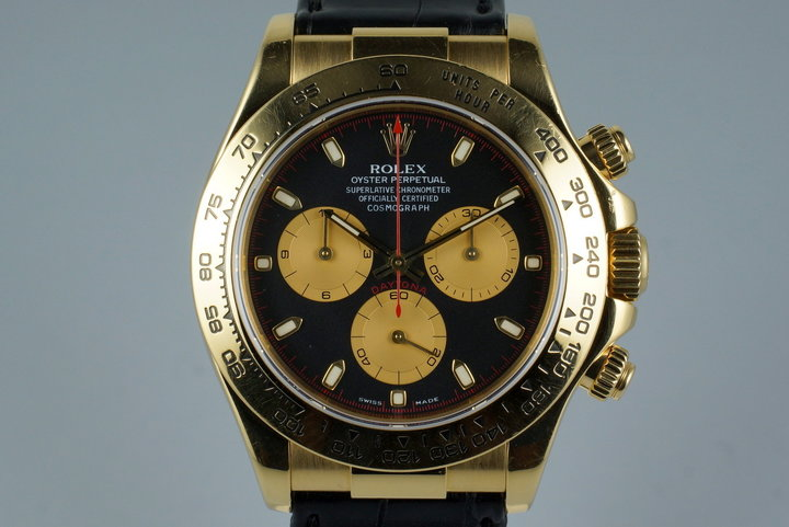2001 Rolex 18K YG Daytona 116518 with Box & Receipt photo