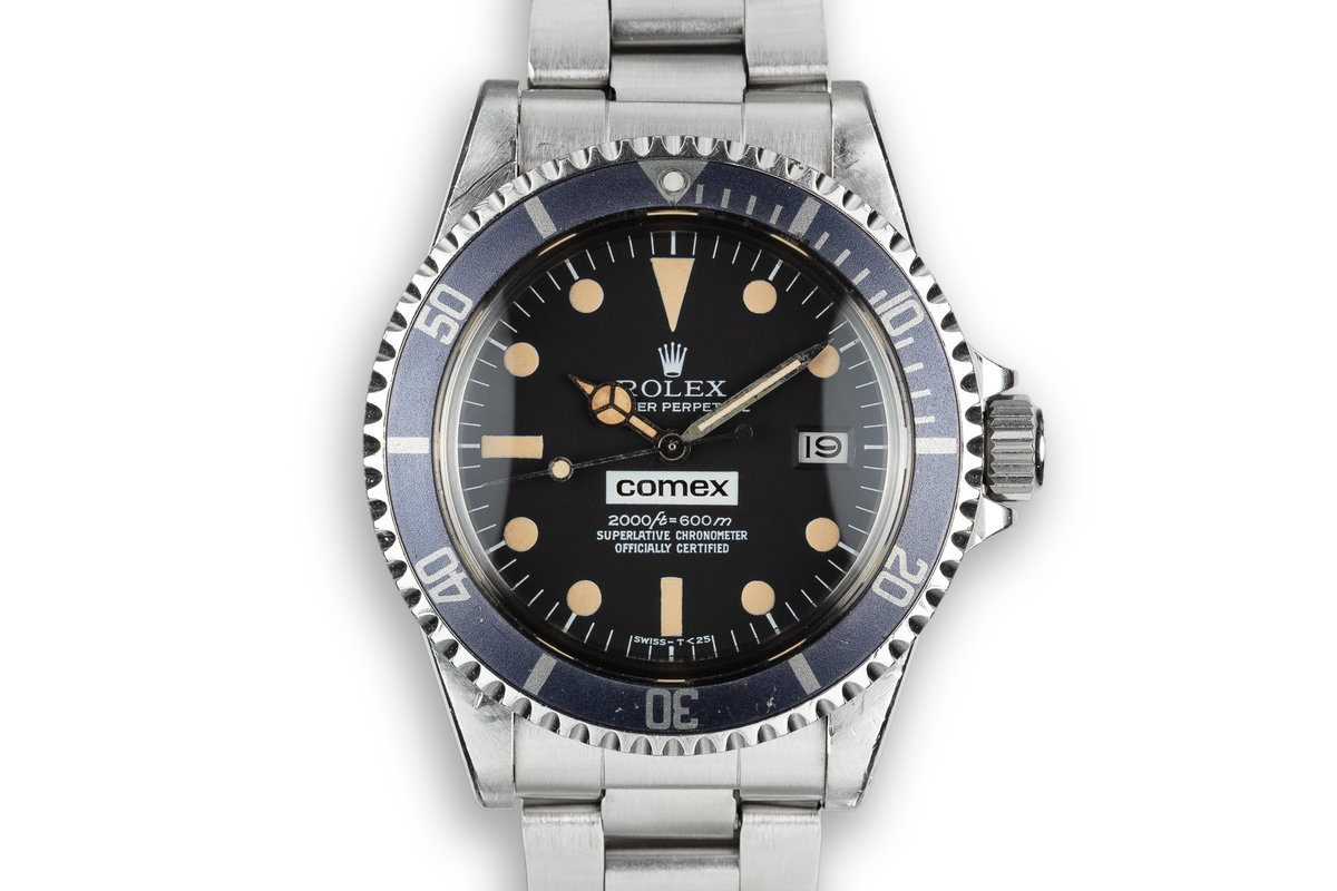 1982 Rolex Comex Sea-Dweller 1665 with Service Papers, Comex Dive Log Book, and Owners Dive History photo, #0