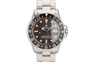 1970 Rolex GMT-Master 1675 Black Insert photo