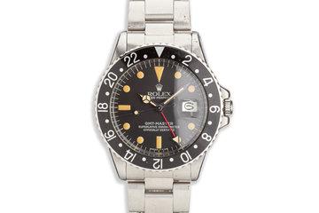 1970 Rolex GMT-Master 1675 Black Insert photo