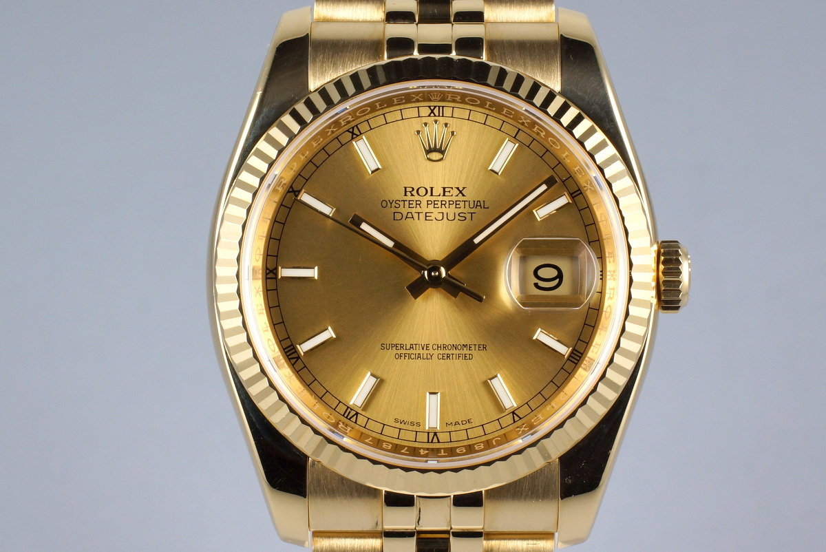 2013 Rolex YG DateJust 116238 with Box and Papers photo, #0
