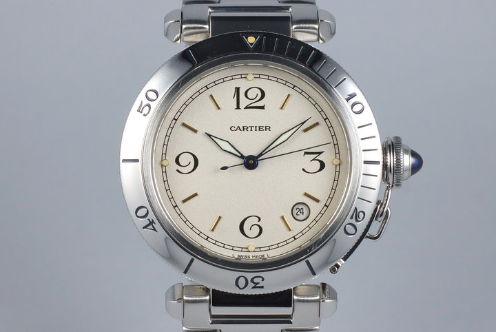 "Cartier Pasha ""38"" with White Dial photo"