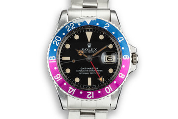 1967 Rolex GMT-Master 1675 Long E Mark 1 Dial with Fuchsia Insert photo