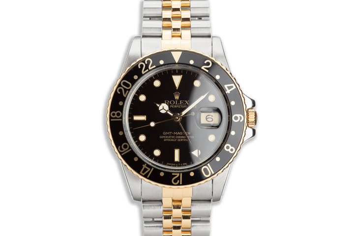 1987 Vintage Rolex Two-Tone GMT-Master 16753 Box and Papers photo
