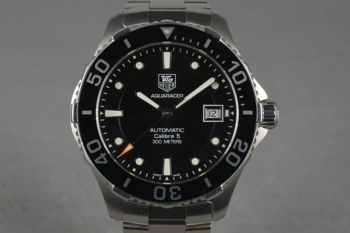 2012 Tag Heuer Aquaracer WAN2110 with Box and Papers photo