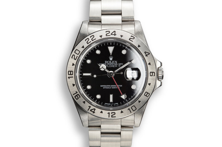 1991 Rolex Explorer II 16570 Black Dial with Box and Papers photo