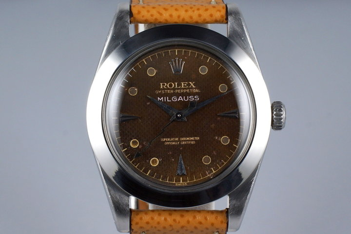 1958 Rolex Milgauss 6541 Tropical Non-Luminous Waffle Dial photo