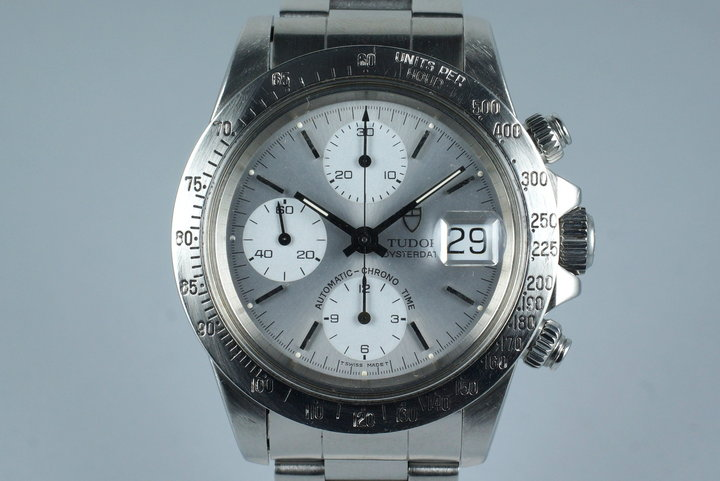 1993 Tudor Chronograph Big Block 79180 Silver Dial photo