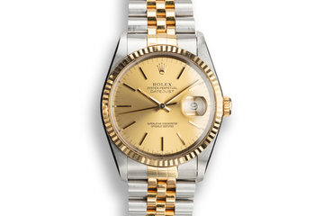 1993 Rolex Two-Tone Datejust 16233 Champagne Dial with Papers photo