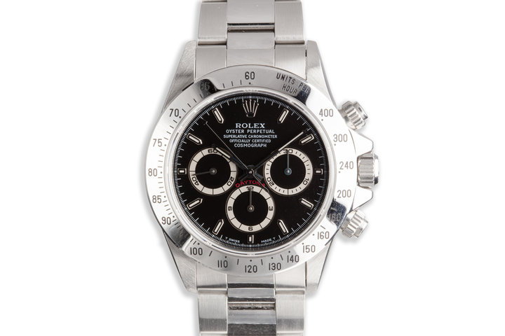 1995 Rolex Zenith Daytona 16520 Black Dial with Box and Papers photo