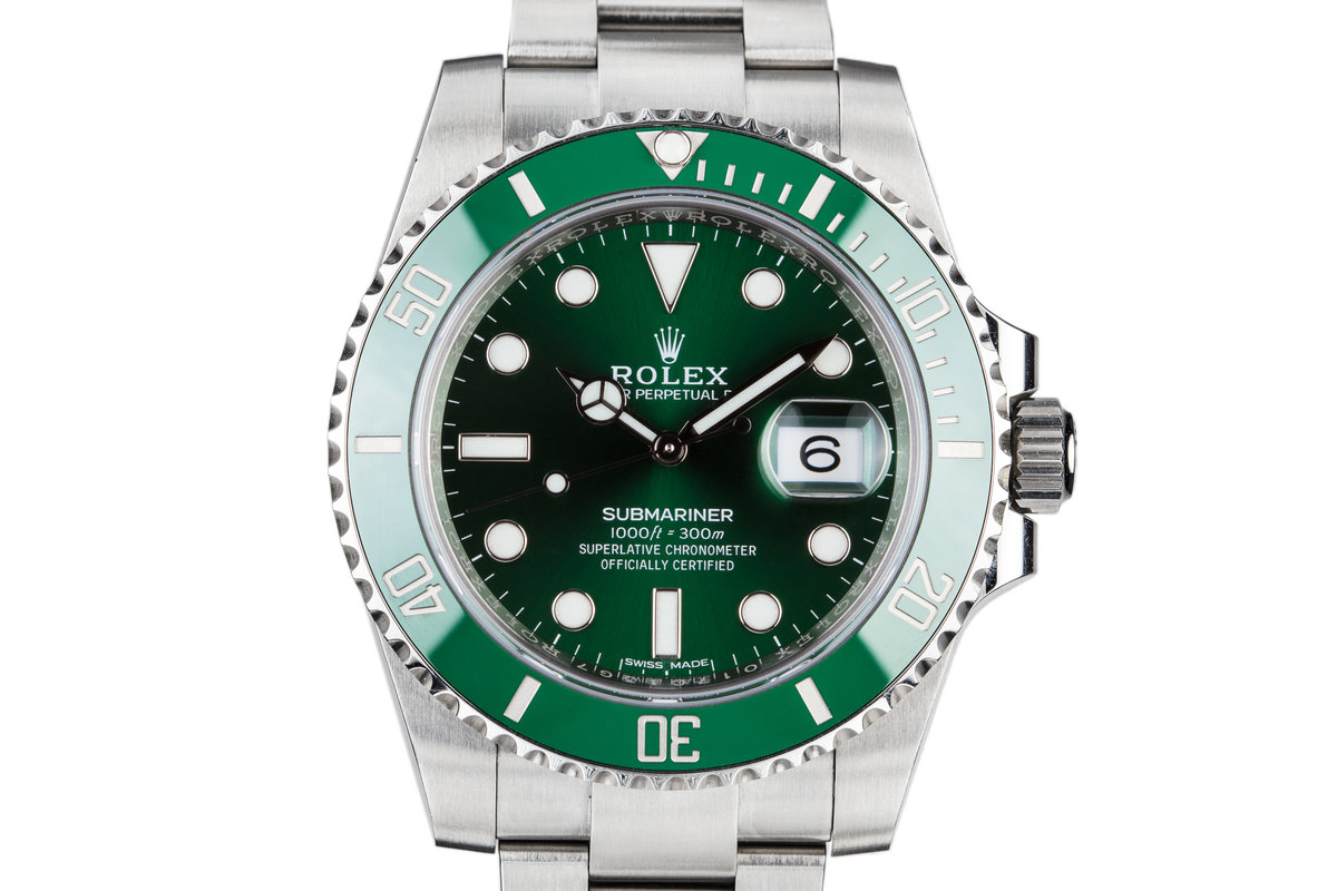 """2017 Rolex Green Submariner 116610LV """"Hulk"""" with Box and Papers photo, #0"""