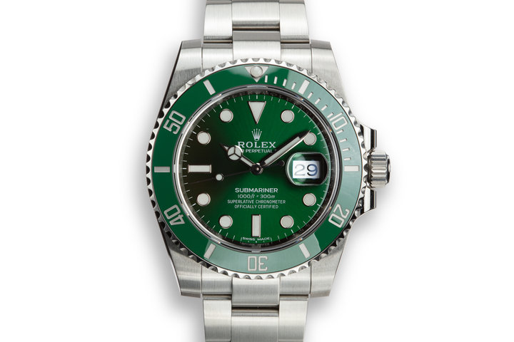 "Rolex Green Submariner 116610LV ""Hulk"" photo"