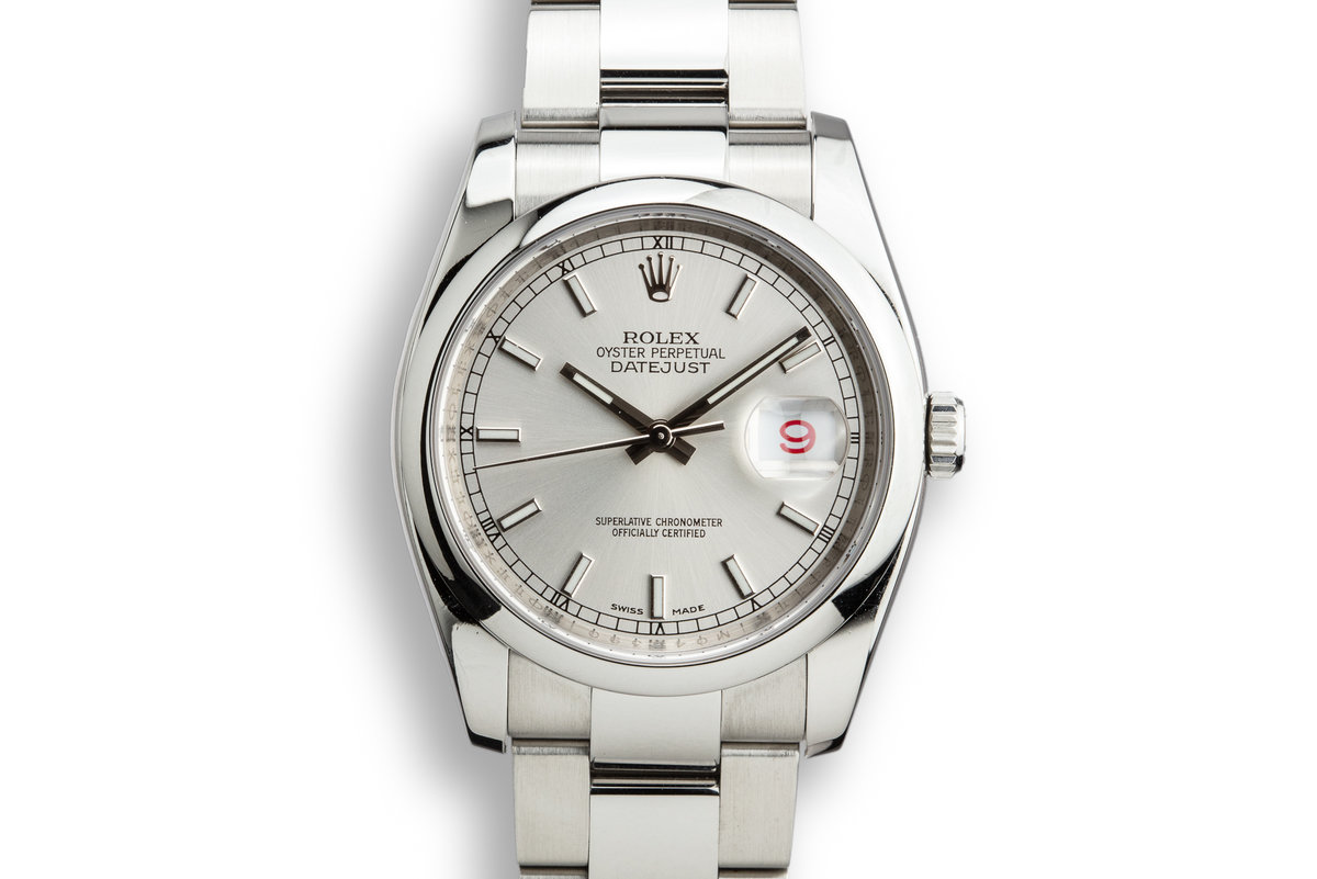 2007 Rolex DateJust 116200 Silver Dial photo, #0