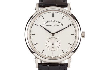 2015 A. Lang & Söhne Glashütte Saxonia LS2163AJ with Box and Papers photo