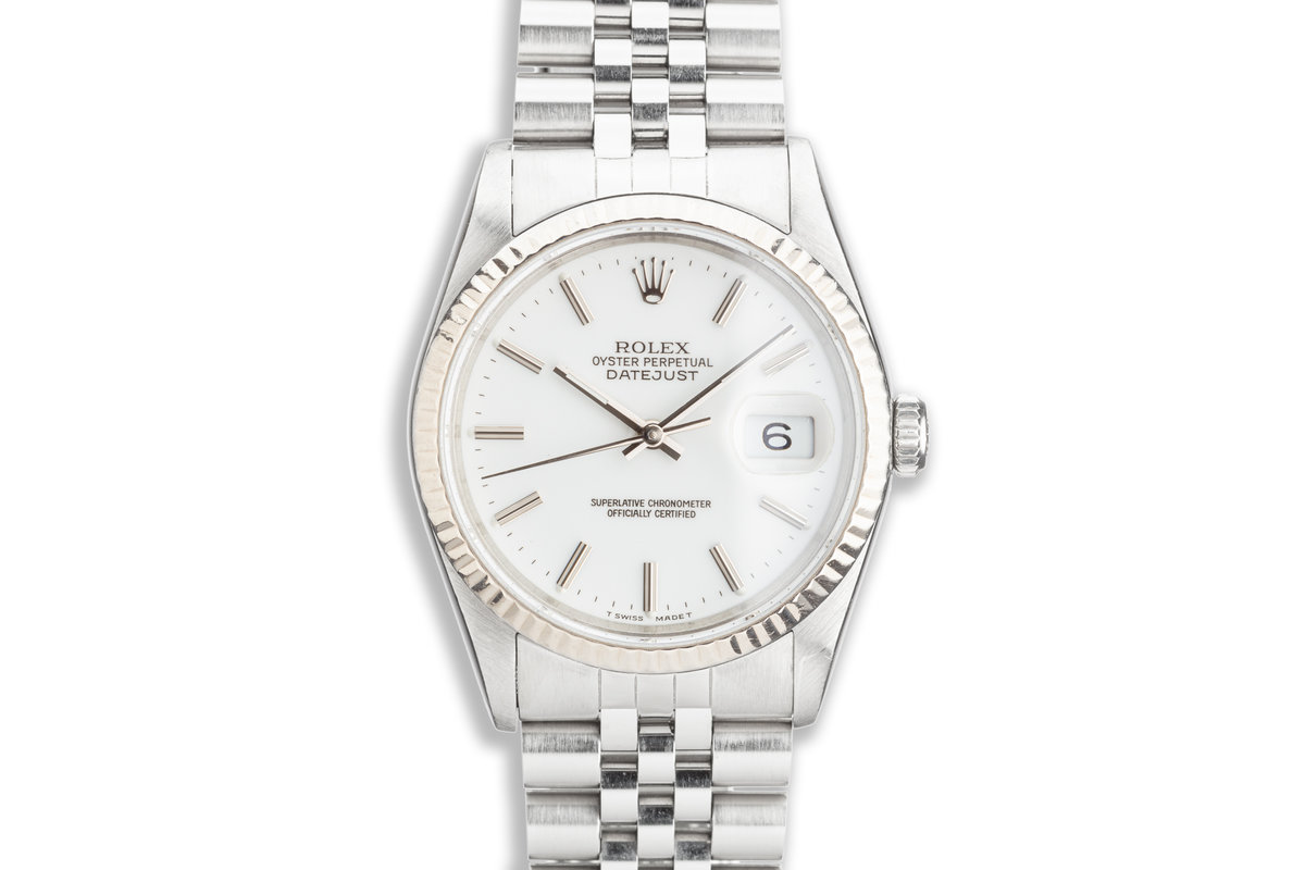 1991 Rolex DateJust 16234 with White Dial photo, #0