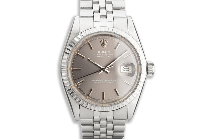 1973 Vintage Rolex DateJust 1603 Gray Dial photo