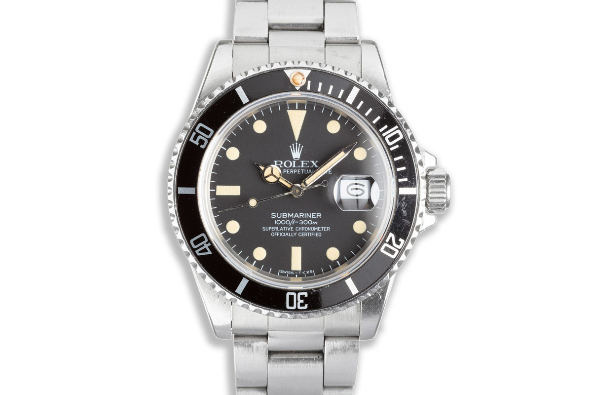 1983 Unpolished Rolex Submariner 16800 with Box & Papers photo, #0