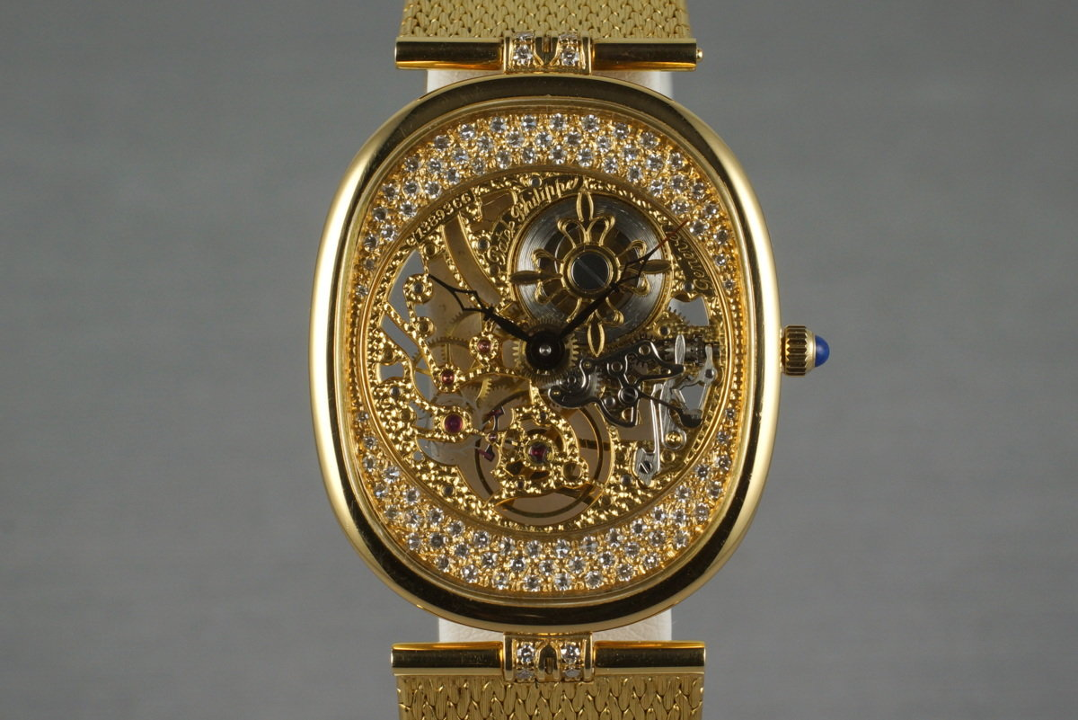 1991 YG Patek Philippe Skeleton 3881/001 with Box and Papers photo, #0