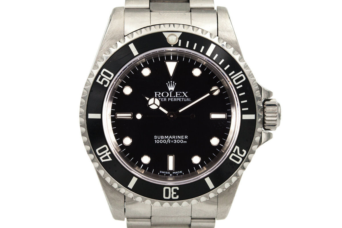 2000 Rolex Submariner 14060M with Box and Papers photo, #0