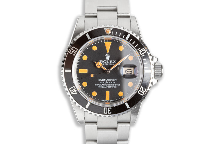 1983 Rolex Submariner 16800 Matte Dial with Box & Service Papers photo