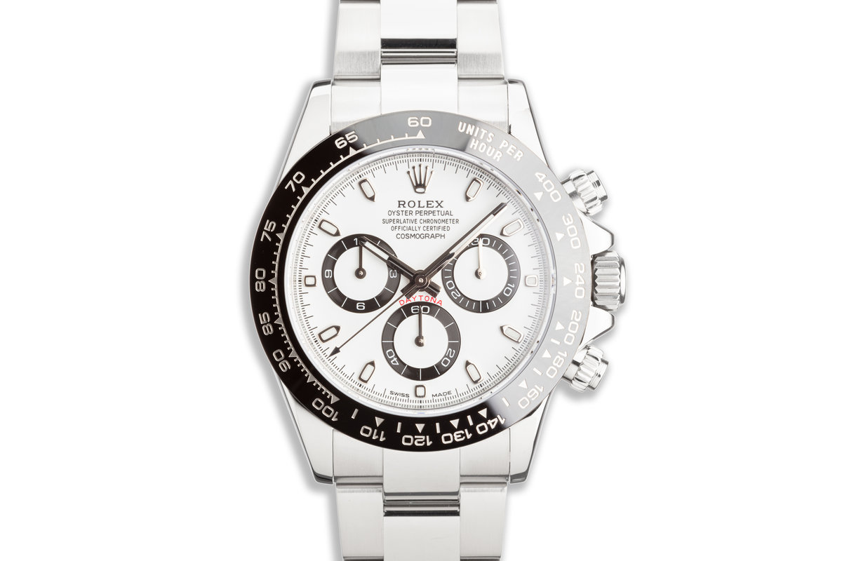 2020 Rolex Daytona 116500LN White Dial with Box and Card photo, #0