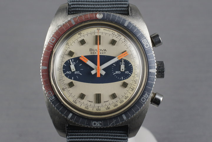 1970 Bulova Deep Sea Chronograph 'Surfboard Dial' photo