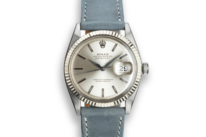1964 Rolex DateJust 1601 No Lume Silver Dial photo