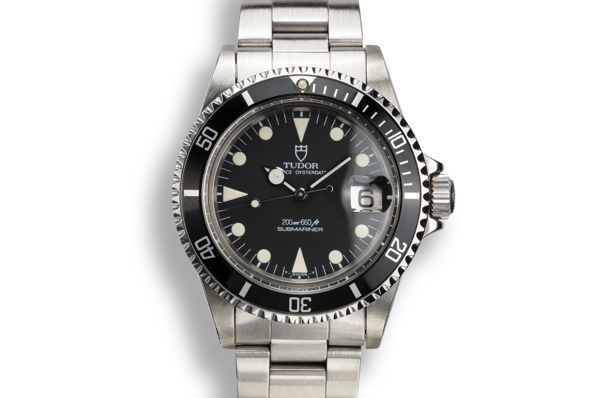 1984 Tudor Oyster Date Submariner 76100 Black Dial with Lollipop hand photo, #0