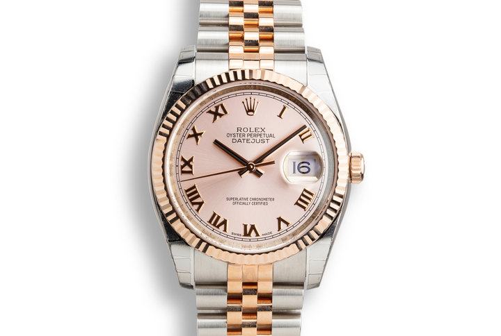 Mint 2018 Rolex Two-Tone Rose Gold and Stainless steel DateJust 116231 Rose Dial with Box and Papers photo