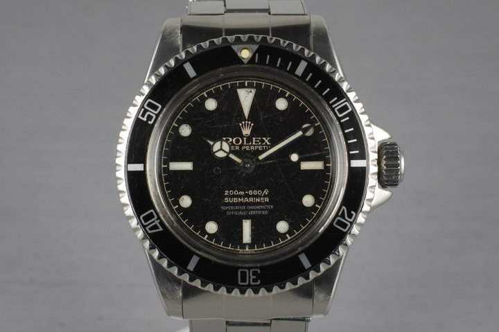 1962 Rolex Submariner 5512 PCG with Gilt 4 Line Chapter Ring Dial photo