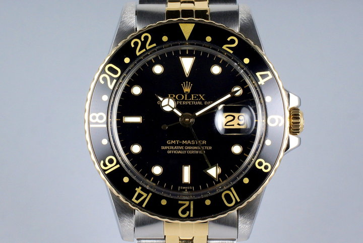 1981 Rolex Two Tone GMT 16753 with RSC Papers photo