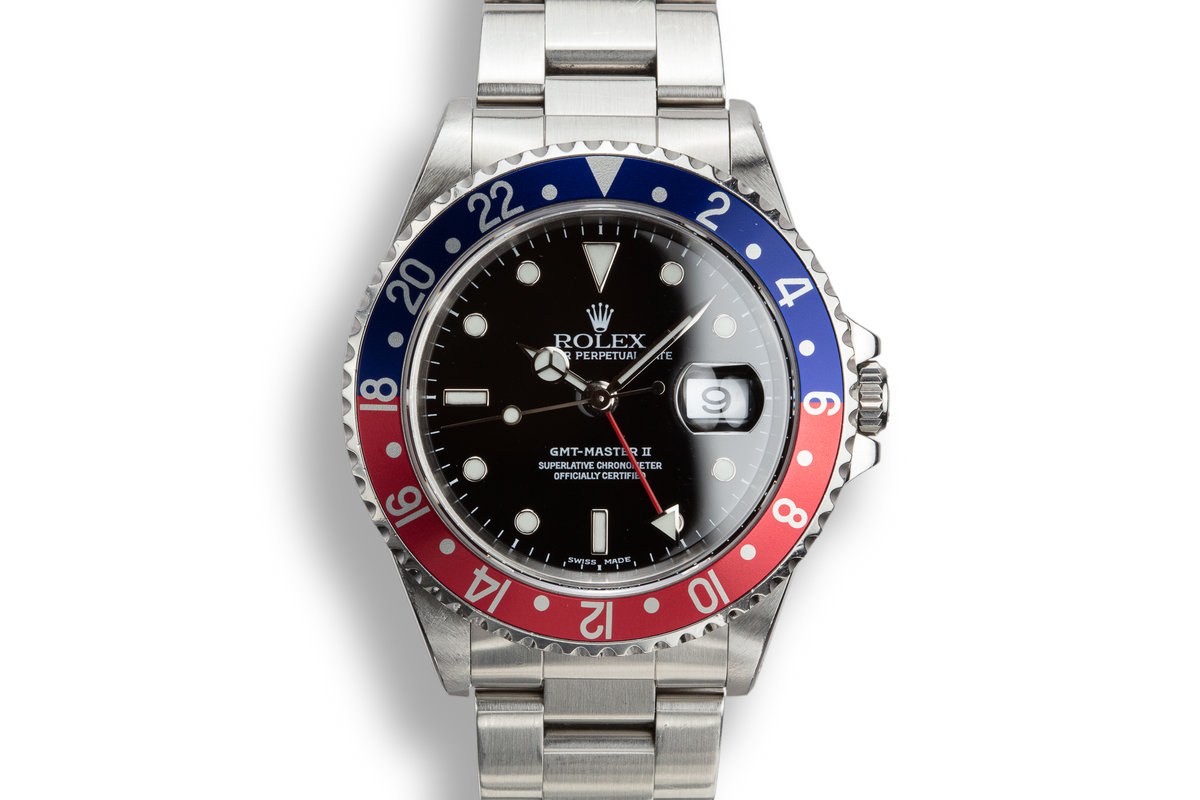 "1999 Rolex GMT-Master II 16710 ""Pepsi"" with Service Papers photo, #0"