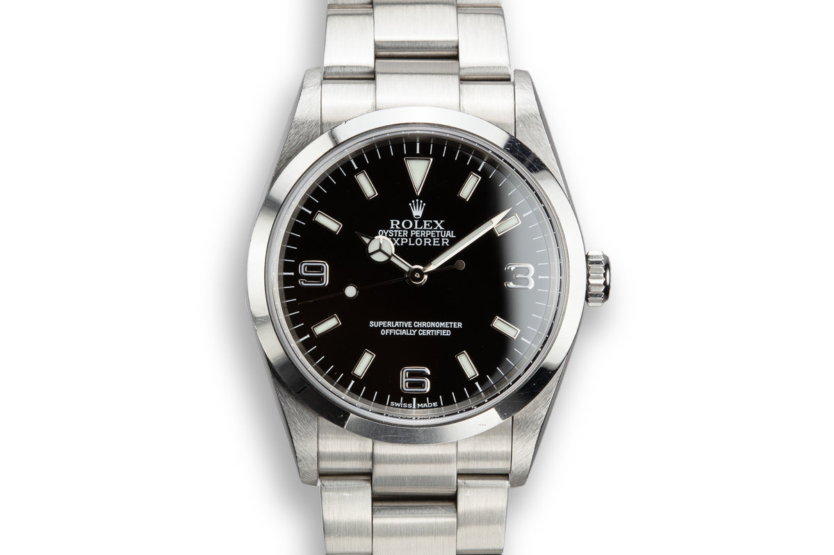 2001 Rolex Explorer 114270 with Box and Papers photo, #0
